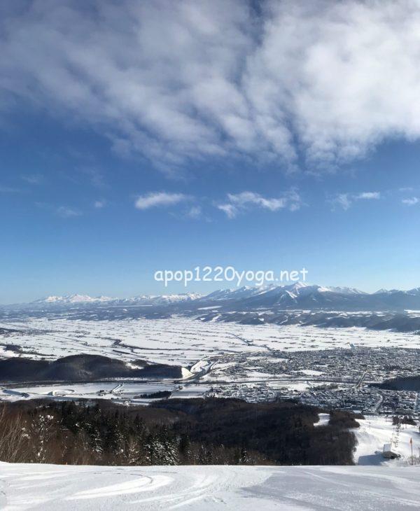 富良野スキー場北の峰ゴンドラからの眺め