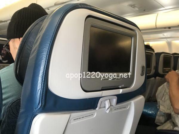 ハワイアン航空のテレビモニター